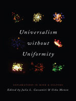 Universalism without Uniformity: Explorations in Mind and Culture