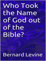 Who Took the Name of God out of the Bible?