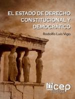 Estado de Derecho Constitucional y Democrático