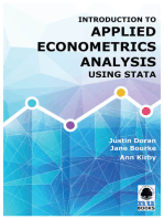 Introduction to Applied Econometrics Analysis Using Stata