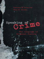Speaking of Crime