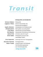 Transit 36. Europäische Revue