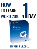 How To Learn Word 2010 In 1 Day | Don't Read Any Word 2010 Until You Read This First