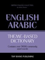 Theme-based dictionary British English-Arabic: 9000 words