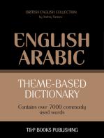 Theme-based dictionary British English-Arabic: 7000 words