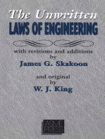 Unwritten Laws of Engineering