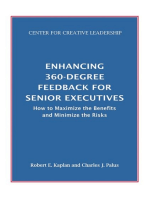 Enhancing 360-Degree Feedback for Senior Executives: How to Maximize the Benefits and Minimize the Risks