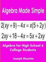 Algebra Made Simple