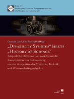 """Disability Studies"" meets ""History of Science"""