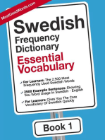 Swedish English Frequency Dictionary - Essential Vocabulary: Swedish, #1