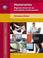 Honorarios. Régimen fiscal de las actividades profesionales. Personas físicas. 2017