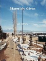 Materials Given