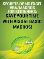 Secrets of MS Excel VBA Macros for Beginners !
