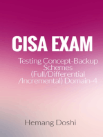 CISA Exam-Testing Concept-Backup Schemes (Full/Differential/Incremental) (Domain-4)
