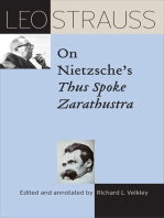 Leo Strauss on Nietzsche's Thus Spoke Zarathustra