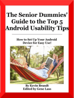 The Senior Dummies' Guide to The Top 5 Android Usability Tips