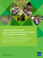 Toward Mainstreaming and Sustaining Community-Driven Development in Indonesia: Understanding Local Initiatives and the Transition from the National Rural Community Empowerment Program to the Village Law