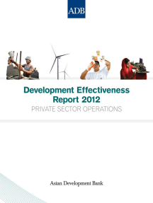 Development Effectiveness Report 2012: Private Sector Operations