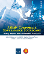 ASEAN Corporate Governance Scorecard: Country Reports and Assessments 2012-2013