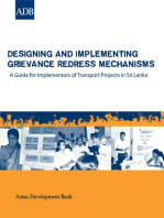 Designing and Implementing Grievance Redress Mechanisms: A Guide for Implementors of Transport Projects in Sri Lanka