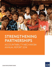 Strengthening Partnerships: Accountability Mechanism Annual Report 2014