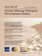Journal of Greater Mekong Subregion Development Studies