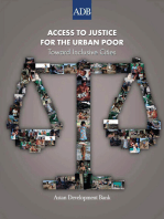 Access to Justice for the Urban Poor