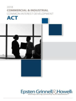2018 Commercial & Industrial Common Interest Development Act