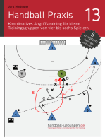 Handball Praxis 13 – Koordinatives Angriffstraining für kleine Trainingsgruppen von vier bis sechs Spielern