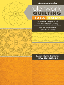 Rulerwork Quilting Idea Book: 59 Outline Designs to Fill with Free-Motion Quilting, Tips for Longarm and Domestic Machines