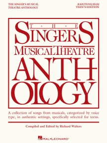 The Singer's Musical Theatre Anthology - Teen's Edition: Baritone/Bass Book Only