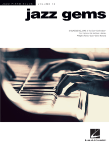 Jazz Gems: Jazz Piano Solos Series Volume 13