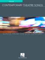 Contemporary Theatre Songs - Tenor