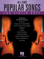 All-Time Popular Songs for Violin Duet