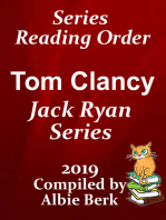 Tom Clancy's Jack Ryan Series Reading Order Updated 2019