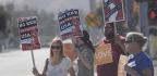Anti-Sharia and Anti-Fascist Demonstrators Face Off at Site of San Bernardino Terrorist Attack