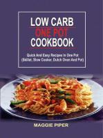 Low Carb one pot recipes