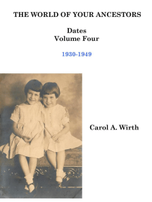 The World of Your Ancestors - Dates - 1930-1949: 4 of 6
