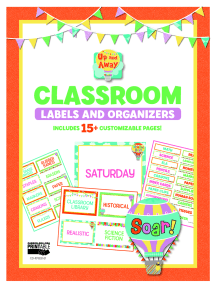 Up and Away Classroom Labels and Organizers