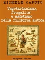 Vegetarianismo, frugalità e ascetismo nella filosofia antica