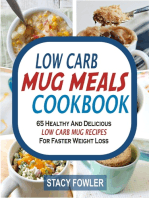 Low Carb Mug Meals Cookbook