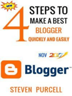 4 Steps to Make a Best Blogger Quickly and Easily