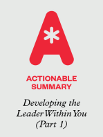 Actionable Summary of Developing the Leader Within You by John Maxwell (Part 1)