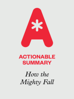 Actionable Summary of How the Mighty Fall by Jim Collins
