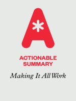 Actionable Summary of Making It All Work by David Allen