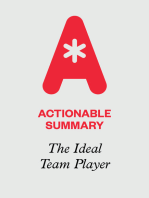 Actionable Summary of The Ideal Team Player by Patrick Lencioni