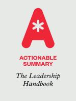 Actionable Summary of The Leadership Handbook by John C. Maxwell