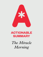 Actionable Summary of The Miracle Morning by Hal Elrod