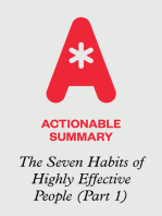Actionable Summary Part 1 of The Seven Habits of Highly Effective People by Stephen R. Covey