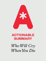 Actionable Summary of Who Will Cry When You Die by Robin Sharma